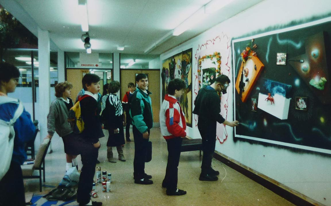 Artist in Residence - Frankley Community High School, Birmingham - Large relief mural/installation - 1987