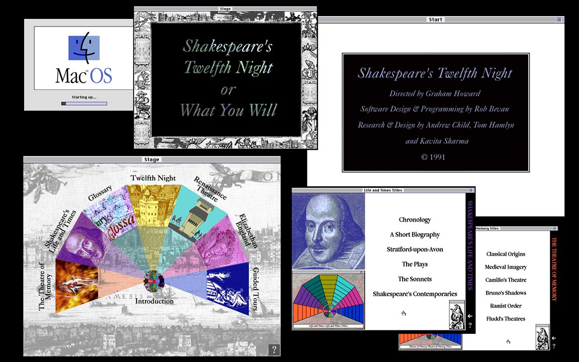 Twelfth Night or What You Will - Apple Renaissance Project - Screenshot montage - 1991